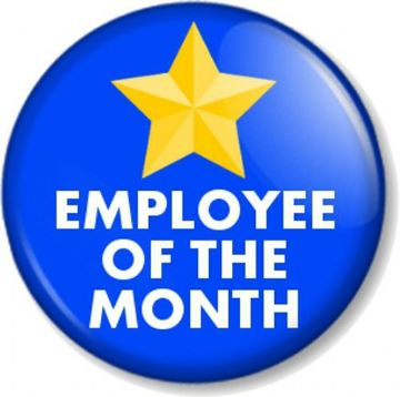 EMPLOYEE OF THE MONTH / WEEK / YEAR Pinback Button Badges Novelty Work Job Fun